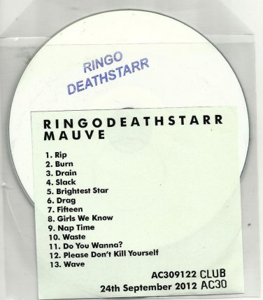 RINGODEATHSTARR  - Mauve -OFFICIAL ALBUM PROMO- CD 2012  /24HR POST