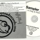 Various - Song by Toad Records -OFFICIAL PROMO SAMPLER- CD 2011 Yusuf Azak -Lach