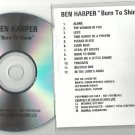 Ben Harper - Burn To Shine -RARE OFFICIAL ALBUM PROMO- (CD 1999) 24HR POST