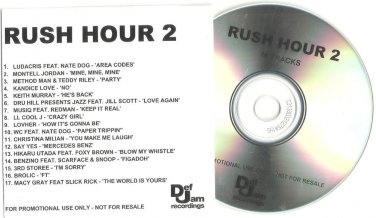 Soundtrack - Rush Hour 2 -OFFICIAL ALBUM PROMO- ( CD 2001) 24HR POST