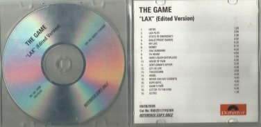 The Game : LAX -OFFICIAL ALBUM PROMO- (CD 2008) Polydor / 24HR POST