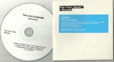 THE LOVE LANGUAGE - Libraries -FULL PROMO- CD 2010 / 24HR POST