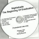 Nightshade : The Beginning Of Eradication  -OFFICIAL FULL PROMO- (CD 2008)