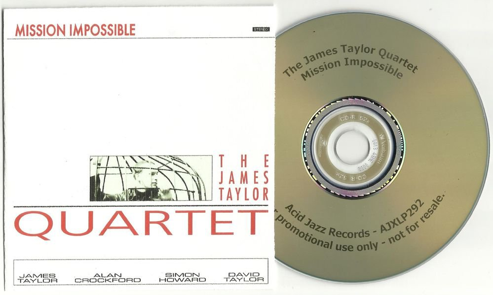 The James Taylor Quartet - Mission Impossible  -RARE OFFICIAL PROMO- (CD 2004)