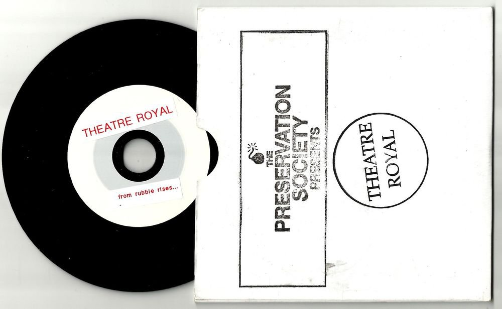 Theatre Royal - From Rubble Rises  -RARE OFFICIAL PROMO- CD 2010  Black Vinyl CD