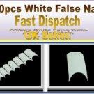 100 HAND BEAUTY FAKE NAILS WHITE FRENCH FALSE ACRYLIC NAIL ART TIPS GEL MAKEUP
