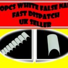 500 WHITE PROFESSIONAL FRENCH FALSE  NAILS ACRYLIC NAIL ART GEL PRO + FREE GLUE