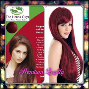 Burgundy Henna Hair Dye Color Organic 100 Chemical Free 100grams