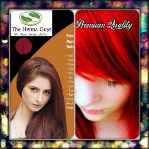 Pure Red Orange Henna Hair Dye Color Organic 100 Chemical Free