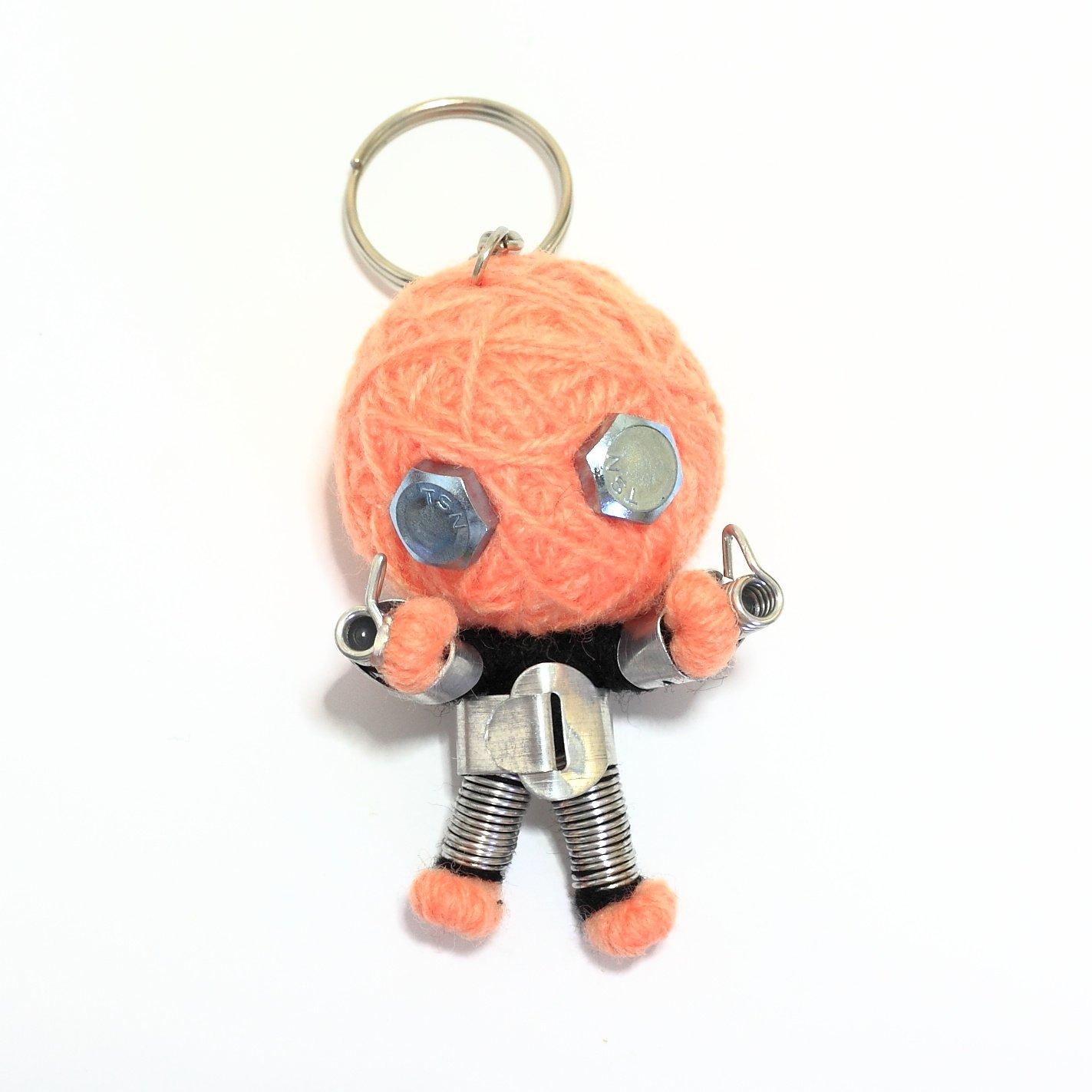 Purple Color Iron Man Voodoo Doll Keyring Keychain