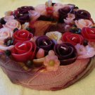 Handmade Decorative Scented Floral Wreath Candle P10
