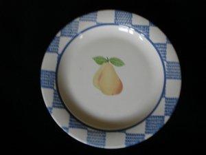 Pfaltzgraff Hopscotch Fruit Salad Plate Pears