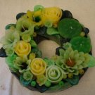 Handmade Decorative Scented Floral Wreath Candle R07G