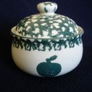 Tienshan Folk Craft Green Apple Sugar Bowl
