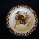 Sakura Debbie Mumm Santa's Spirit Reindeer  Salad Plate