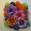 Handmade Decorative Scented Floral Square  Candle M05