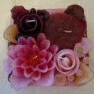 Handmade Decorative Scented Floral Square  Candle P14