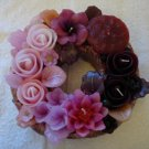 Handmade Decorative Scented Floral Wreath Candle P13