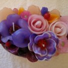 Handmade Decorative Scented Floral Oval Candle P03