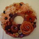 Handmade Decorative Scented Floral Wreath Candle P12B