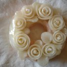 Handmade Decorative Scented Floral Wreath Candle WP06