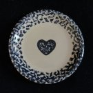Tienshan Folk Craft Blue Hearts and Sponge Salad Plate