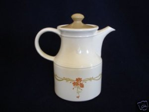 Biltons Orange Daisy Flowers Coffee Pot Server