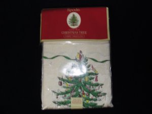"Spode Christmas Tree Table Cloth 60"" x 144"" New"