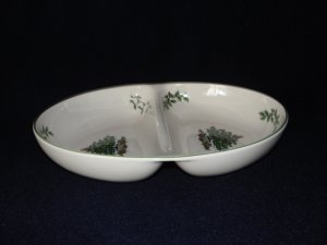 Spode Christmas Tree Oval Divided Serving Dish Bowl S3324