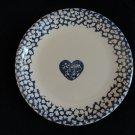 Tienshan Folk Craft Blue Hearts Sponge Dinner Plate