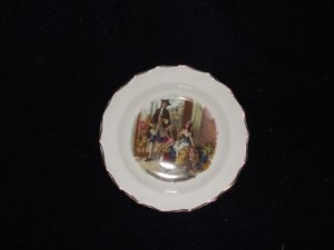 Fenton Cries of London Gold Trim Plate/Bowl