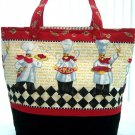 Cute Chef Reusable Grocery Shopping Market Tote Bag