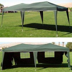 10 x 20 EZ Pop Up Canopy w/6 sidewalls**WHITE, GREEN OR BLUE