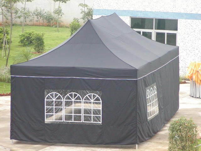 Windowed Party Tent measures 12' x 24'  (ITEM#WP12X24)