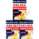 3 Pcs of 20g Geliga Muscular Balm Balsem Otot Muscle Pain Relief Repeated Heat