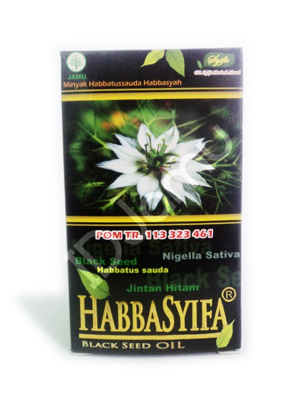 Herbal Nigella Sativa Black Seed Habbatussauda Oil Habbasyifa 90 Capsules