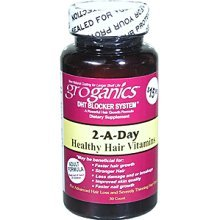 Groganics 2-A-Day Healthy Hair Vitamins, 30 Count