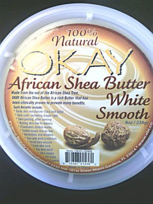 Okay African Shea Butter White Smooth 8 Oz