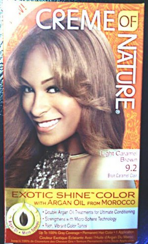 Creme of Nature Light Caramel Brown 9.2 Exotic Shine Color