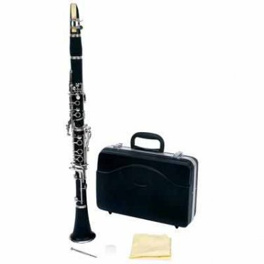 NEW Matte Finish Ebonite Body Clarinet in Eb with Mouthpiece & Case FREE SHIPPING