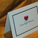 """3-D Heart """"I want you because..."""" Card"""