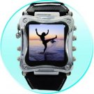 Metallic 1.5 Inch OLED MP4 Watch Player - 2GB  [CVDAD-X18-B]