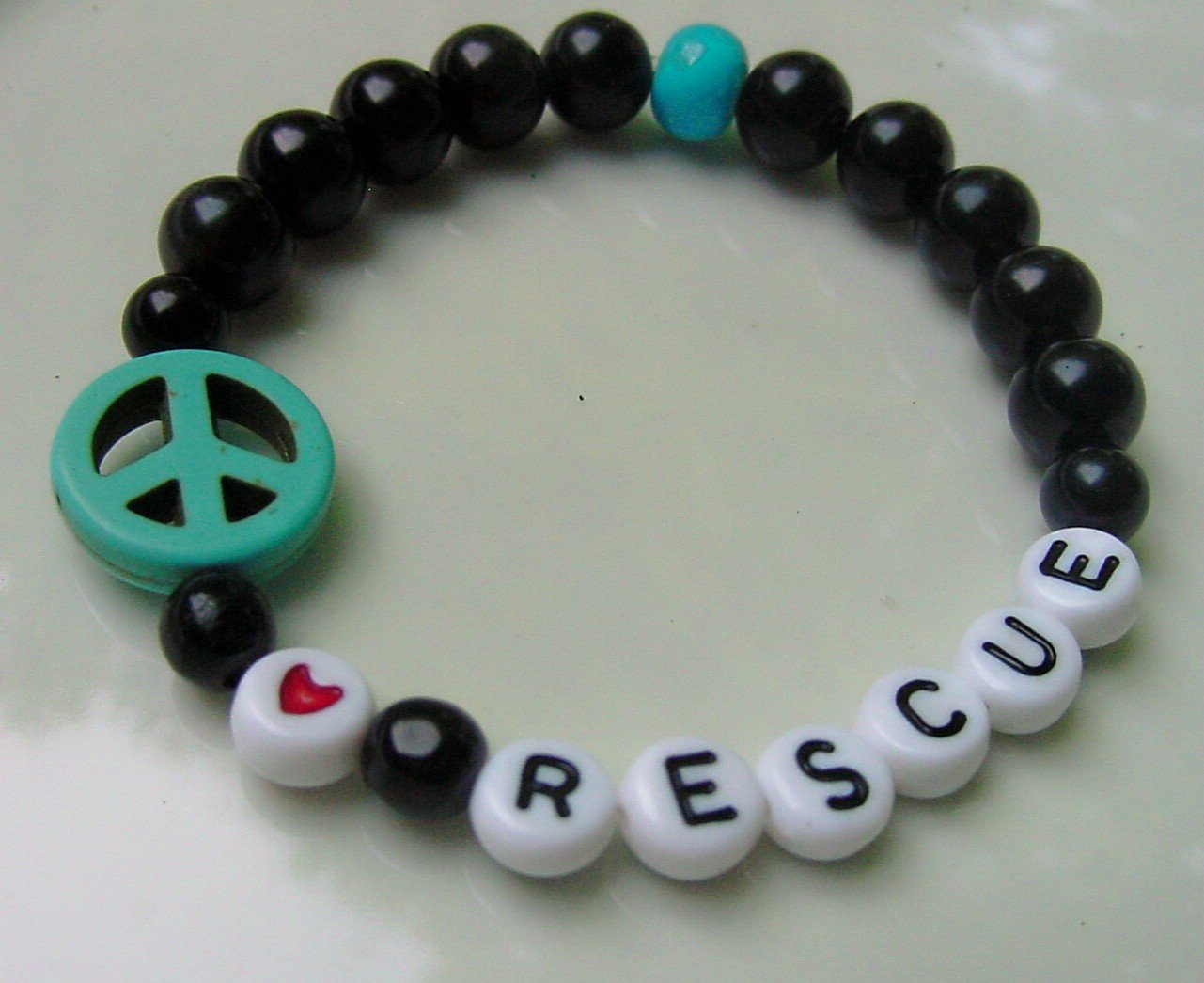 Peace * Love * Rescue Bracelet