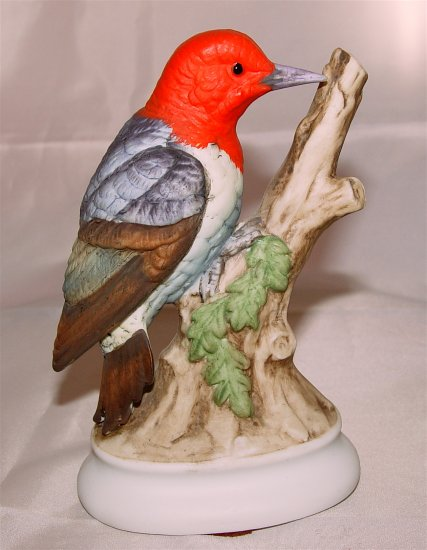 WOOPECKER - RED HEADED - Lefton China  - Hand Painted Porcelain