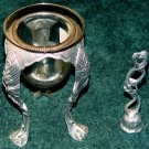 CANDLE STICK HOLDER - VOTIVE & SNUFFER - Metal & Glass - Ornate