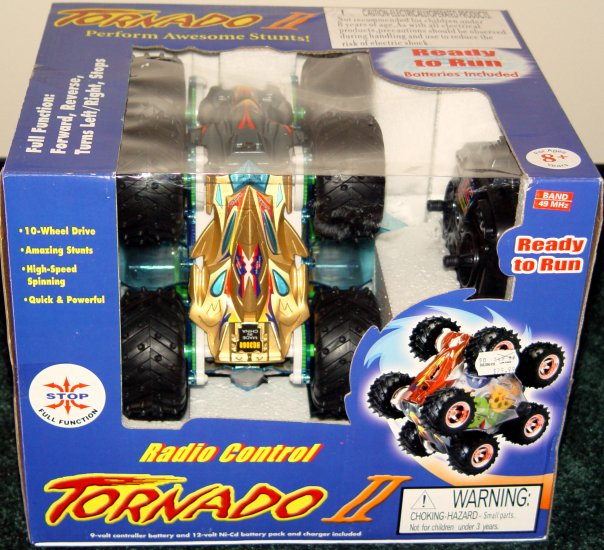 RADIO CONTROL Tornado II Stunt Action Car 10-Wheel NIB