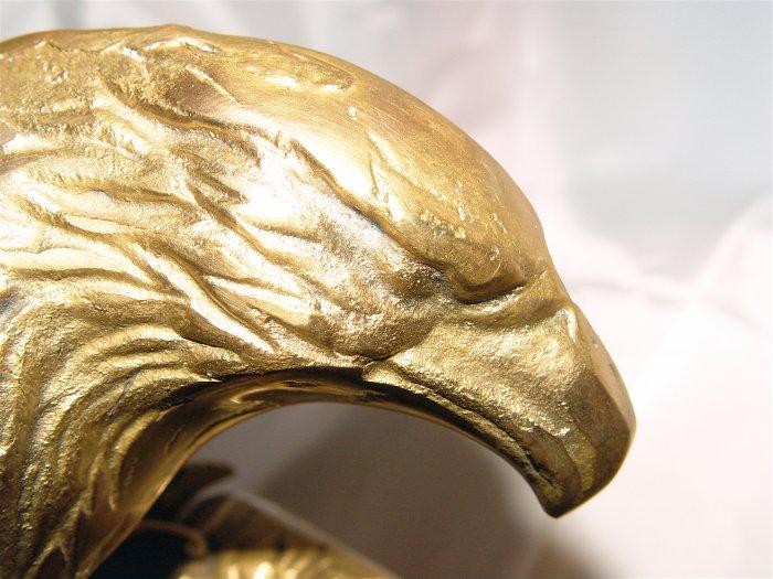 """BALD EAGLE (10"""" x 11"""") Brass - VINTAGE"""