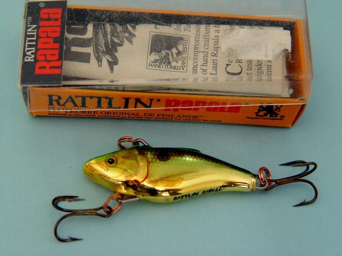 RAPALA RATTLIN' SINKING LURES - Made in Ireland - (3 NIB)