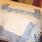 BED COVER for TWIN BED - Quilted w/ Sham