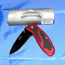 FIRE RED & BLACK TACTICAL POCKET KNIFE (NIB) and MAXAM POCKET KNIFE